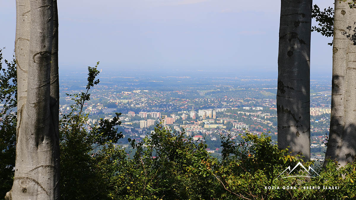 Panorama na Bielsko Biała Kozia Góra