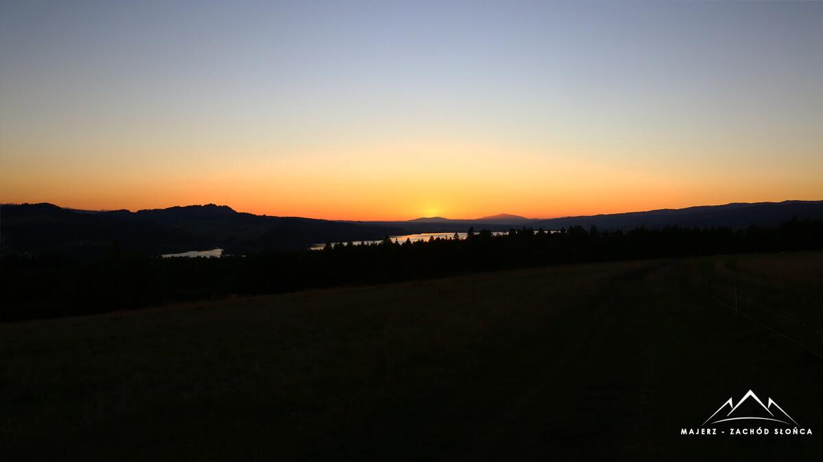 Czorsztyn zachód słońca