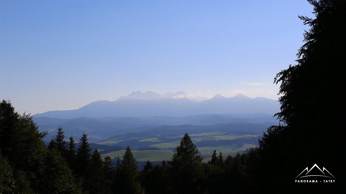Panorama na Tatry Trzy Korony
